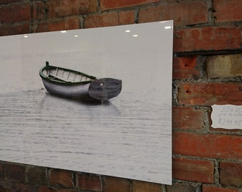 Metal Photo Print / Modern Wall Art / Boat / Dory / Fog