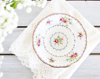 "Vintage Royal Albert ""Petit Point"" Fruit Bowl 5 3/8""   Floral Fruit Bowl, English Fruit Bowl, Tea Party Bowl, Mini Bowl, Pretty Dessert Bowl"