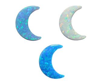 Opal Moon Pendant Charm Synthetic Crescent Half Moon DIY Fashion Jewelry Making Gemstone Findings