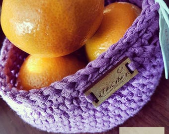 Handmade Mini Crochet Hanging Basket | Hanging Pod | Storage Pod