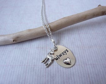 Always Doe Pendant Necklace / Deer Necklace / Love Token / Chain Necklace / Petronas Themed Gift / Petronas Necklace / Wish Knots