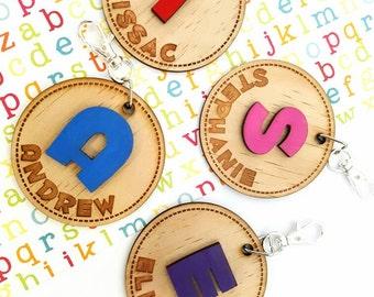 Personalised Children's Bag Tags Key Rings