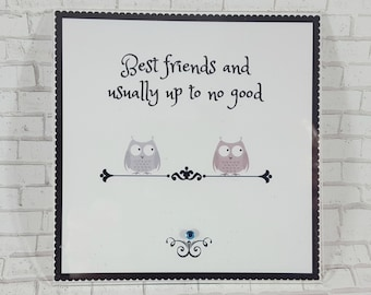 Funny Best Friend Gift - Best Friend Birthday Gift - Bridesmaid Gifts - Quote Magnets - Owl Decor - Cute Office Magnets - Owl Magnets