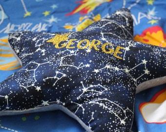 Star Pillow, Star Cushion, Baby Boy, Baby Girl, Nursery Decor, Baby Gift, Baby Shower