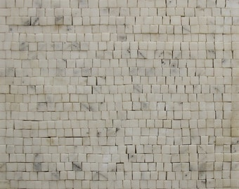 Statuario Plain Handmade Art Decor Marble Mosaic PM8