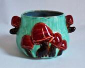 Mini Mushroom Flower Pot- Seafoam