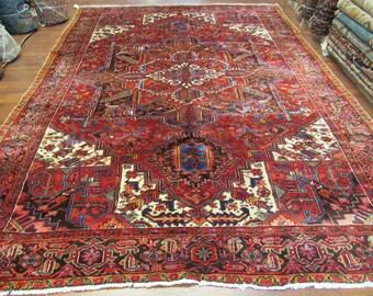 Antique Persian Heriz rug-4195