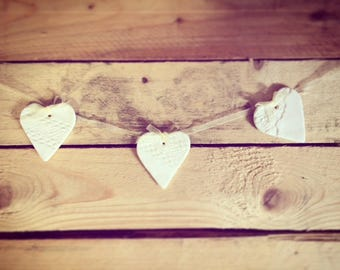 Porcelain Hearts Garland!!