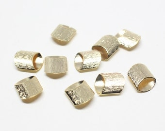 P0505/anti-Tarnished Gold Plating Over Brass/Ellipse Cylinder Connector/7.5x9.5mm/4pcs