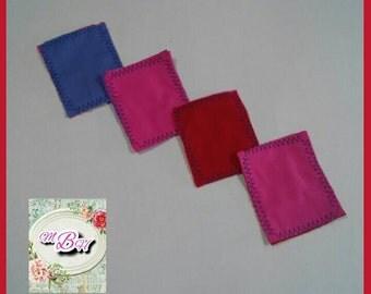 Makeup pads, reusable makeup pads, cotton makeup pads, foundation, creams, face pads, facial pads, reusable, zero waste, ready to ship