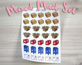 Mail Planner stickers variety sampler set Matte or Glossy-  for use with Erin condren planner - #35