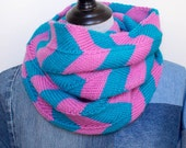 Hand Knit Chevron Cowl - ...