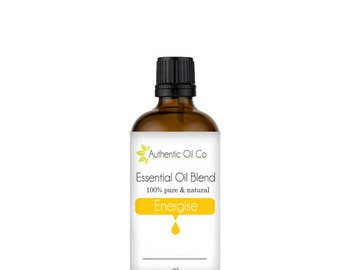 Energise Essential Oil Blend 100% Pure 10ml 50ml 100ml