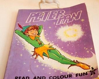 Retro Peter Pan, read and colour fun book