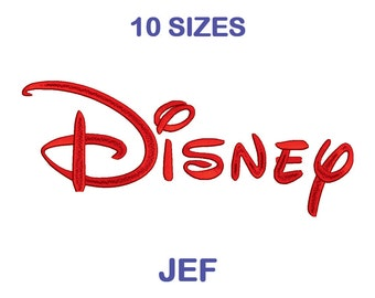 Disney Embroidery Font - 10 Size - JEF Format Embroidery Alphabet - Embroidery Letters - Machine Embroidery Designs Patterns