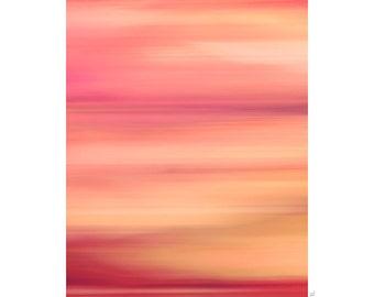 Abstract Photography PRINT, Autumn Sunset -1 , Wall Art