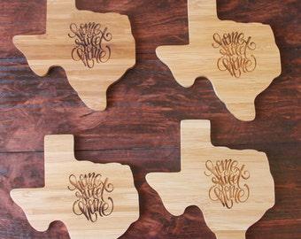 Texas Shaped Coasters - Home Sweet Home