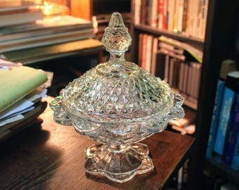 1960's Crystal Candy Dish