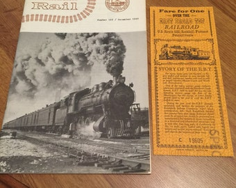 Canadian Rail magazine Dec 1963 + East Broad Top Fare Ticket