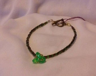 A Splash of Green Bracelet