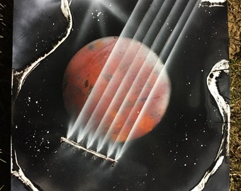 Guitar Galaxy - Spray Paint Art