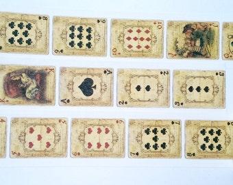 Design Washi tape game cards vintage