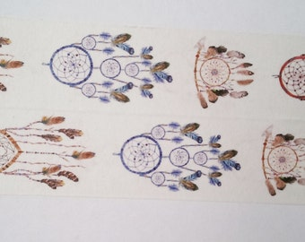 Design Washi tape dream catcher feathers Indians
