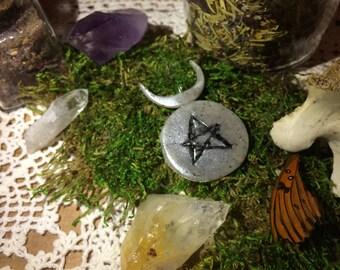 The Horned God Wicca Symbol Pendant