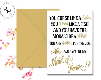 PRINTABLE //  you curse like a sailor you drink like a fish //Bridesmaids invite // funny invitations // custom invitation