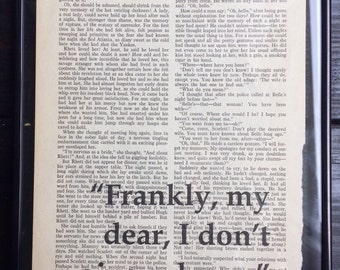 "Gone with the Wind Vintage Page with Quote - ""Frankly my dear"""