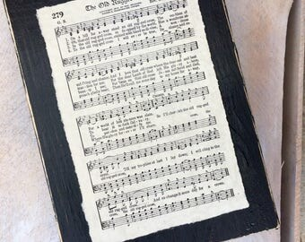 Old Rugged Cross Vintage Hymn Sign Display
