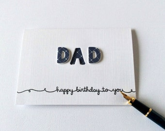 Dad Birthday, Card for Dad, Blank Dad Birthday, Dad Greetings Card, Cute Card For Dad, Modern Dad Birthday, 3D Dad Birthday, 3D Dad Card, DD