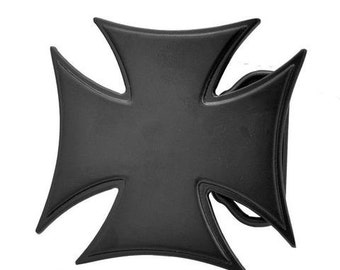 Black Cross Belt Buckle-Free Engraving