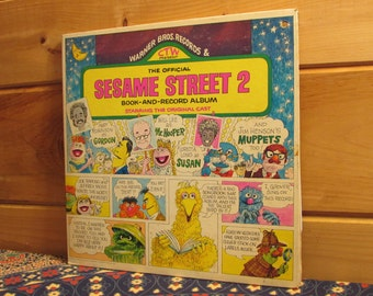 The Official Sesame Street 2 Book-And-Record Starring The Original Cast - 33 1/3 Vinyl Record