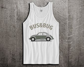 VW Beetle Tank Top, Bus & Bug t shirts, Classic beetle shirts, Unisex tanks, Beetle t shirts, VW Tank tops by Motomotiveink
