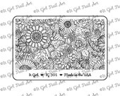 """IG301 Nail Art """"Mini"""" Stamping Plate - floral, infinity, leaves, butterfly"""
