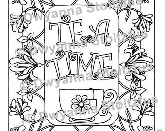 Tea Time 2 Coloring Page PDF