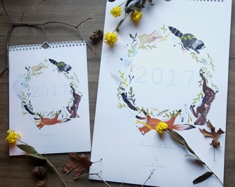 Critter Illustrated Wall Calendar