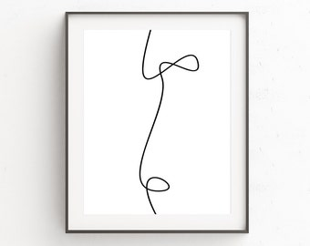 Scandi Wall Art, Guest Bedroom Decor, Apartment Decorating, Affiche, Printable Decor Art, Cubicle Print, Affiche Abstract, Minimalist Poster