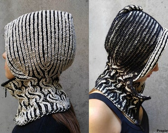 Pdf Pattern 2 Color Brioche Knitted Winter Summer Hat