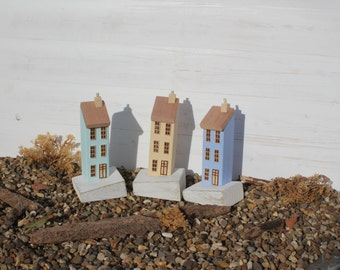 Handmade Iconic Wooden Seaside Houses in Coastal Colours