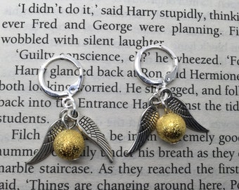 Golden Snitch - Harry Potter inspired earrings