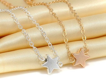 Friendship/ Couple Bracelet Silver and Gold Star Charms Two Pieces Dainty and Simple
