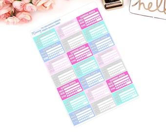 Slimming World, Planner Stickers Syn Tracker Weight Loss HEa, HEb, For use in ERIN CONDREN LIFEPLANNER ™, Happy Planner, Filofax.