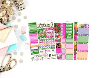 Pretty Wild Mini Kit, planner stickers