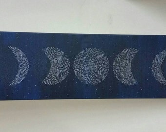 "Original Painting ""Moon Cycle I"" (Prussian Blue)"