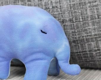 Blue and purple pastel tie dye stuffed elephant toy / nursery decor / soft toy / elephant gifts / baby gift / baby boy / elephant nursery