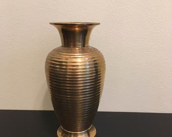 Vintage Brass Urn // Made in India
