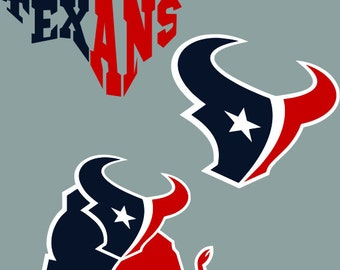 houston texans logo template - houston svg etsy