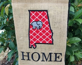 Burlap Garden Flag, Elephant, Alabama, Sweet Home Alabama